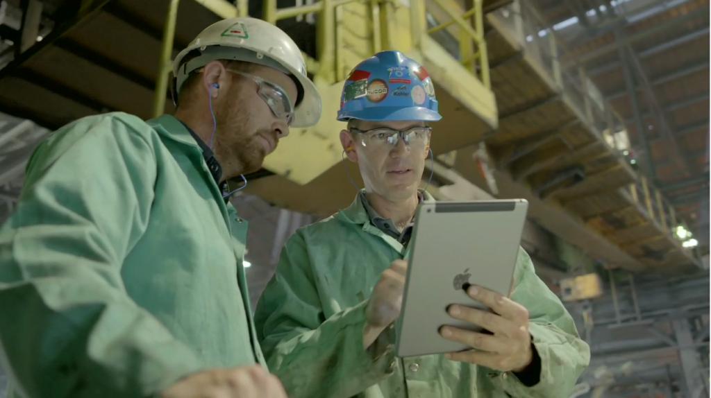 iPad usine